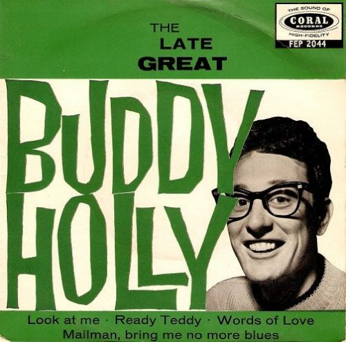 BUDDY HOLLY The Late Great Buddy Holly EP Vinyl Record 7 Inch Coral
